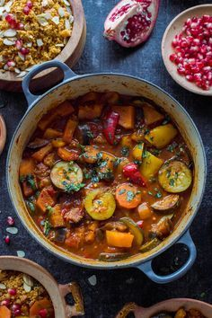 Vegetable tagine with almond and chickpea couscous - an easy, healthy vegetarian/vegan meal with tonnes of flavour!