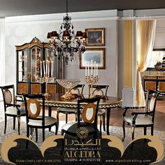 ALGEDRA Trading & Furniture is specialized in providing modern, classic Turkish & Italian furniture for residential and commercial projects. Italian Furniture, Dining Room Furniture, Chandelier, Ceiling Lights, Classic, Modern, Home Decor, Derby, Candelabra