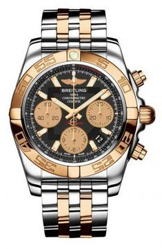 Status Mens Breitling Steel and Gold Chronomat 41 Watch CB014012/BA53-TT