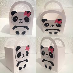 Set of 15 Panda Party Favor/Treat Bag by PaperCreationsGalore