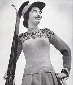 1940s women's knits knitting patterns 7 women's tops by Juandah