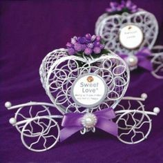 Send out your favors with damask favor boxes,gift boxes and bags and green favor boxes and you can have the best wedding favor boxes purple green pink red metal multi-colored candy gift chocolate favor boxes with heart design from crazy_dresses. Wedding Candy Boxes, Wedding Party Favors, Flower Decorations, Wedding Decorations, Chocolate Favors, Purple Themes, Wedding 2015, Wedding Ideas, Candy Gifts