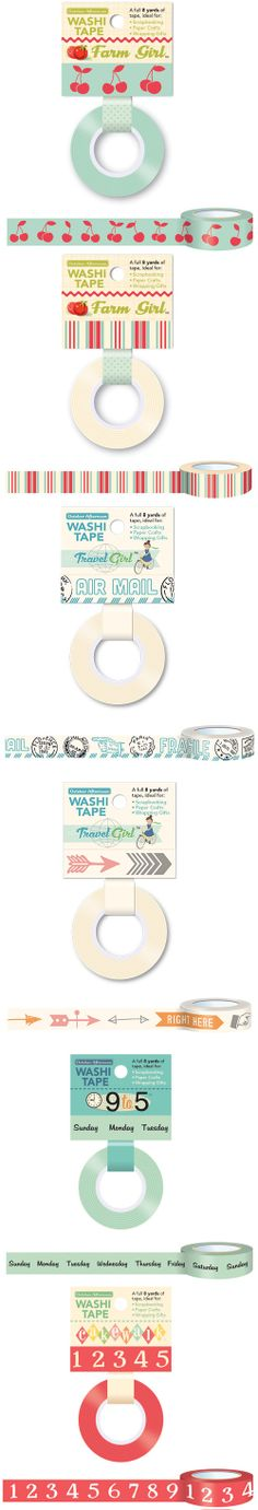 October Afternoon Giant Washi Tape Pack.  74% OFF at www.peachycheap.com!