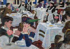 Stanley Cursiter (1887–1976) – Tea Room (1913) City of Edinburgh Council Collection