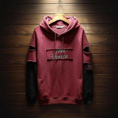 Hole Letter Printed Loose Simple All-match Hoodies Trendy Hoodies, Cool Hoodies, Hoodie Sweatshirts, Matching Hoodies, Vetement Fashion, Hoodie Outfit, Winter Fashion Outfits, Jacket Style, Swagg