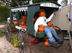 Pumpkins for sale at the Green Thumb in Water Mill, NY