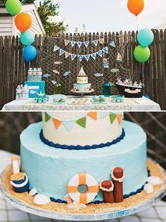 sailor party dessert table