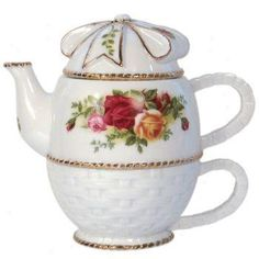 Royal Albert Old Country Roses Basketweave Tea For One