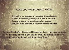 Could the power of the Blood Oath be what keeps Jamie and Claire united for eternity?), but the the significance of the Gaelic Wedding Vo… Viking Wedding, Celtic Wedding, Irish Wedding, Wedding Book, Our Wedding, Fall Wedding, Witch Wedding, Wedding Venues, Wedding Ideas