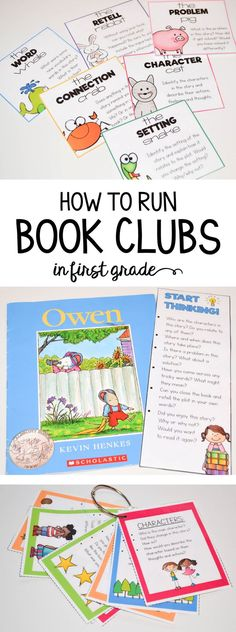 How to run book clubs in first grade! Tips and resources