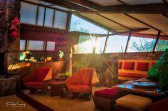 Garden Room Sunrays @wrighttaliesin #taliesinwest #franklloydwright #scottsdale #arizona