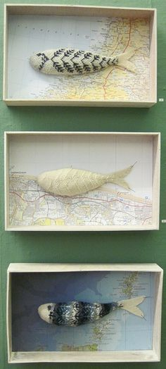 Traditional Knitted Fish of the North Sea