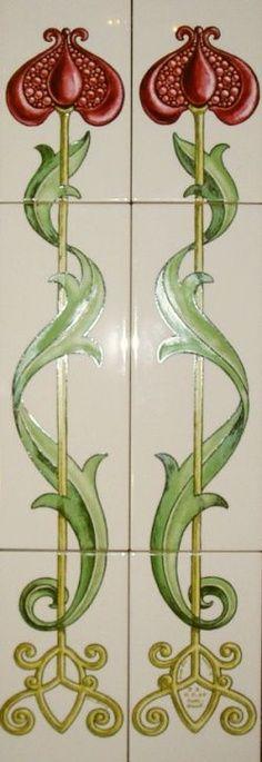 New art nouveau design style ideas Motifs Art Nouveau, Azulejos Art Nouveau, Design Art Nouveau, Art Nouveau Flowers, Architecture Art Nouveau, Art Nouveau Tiles, Artistic Tile, Art Moderne, Objet D'art