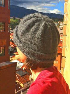 Apparel | gray slouch hat knitted