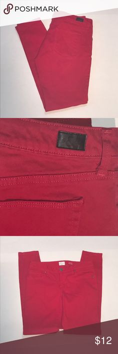 "Style & Co Red Jegging Style & Co Lower Rise Red Jeggings. 98% Cotton 2% Spandex. 29 1/4"" inseam. Machine washable Style & Co Pants Skinny"