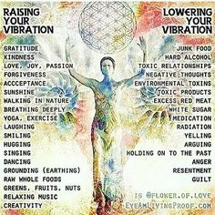 Raise your vibes in 2018! ... Here are some ways to do it, and some things to that need to decrease, or better yet, go bye bye this year!