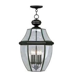 Livex Lighting Monterey Black Four-Light Outdoor Pendant - 2357-04