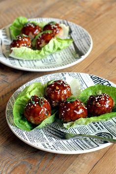 These turkey meatballs with hoisin glaze come together in a snap and are delicious as an appetizer or meal when served with rice.