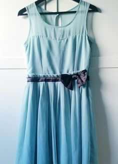 Kup mój przedmiot na #vintedpl http://www.vinted.pl/damska-odziez/krotkie-sukienki/14257568-pastelowa-sukienka-mgielka-kokardka