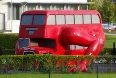 Booster bus in Prague