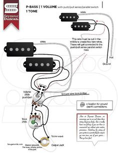 p bass wiring diagram diy in 2019 fender precision bass guitar guitar diy. Black Bedroom Furniture Sets. Home Design Ideas