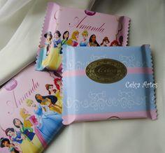 Chocolate personalizado princesas