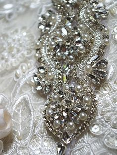 you can make your own bridal sash with this gorgeous rhinestone applique