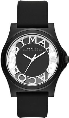 Marc by Marc Jacobs MBM4019 HENRY SKELETON silicone ladies watch on shopstyle.com.au