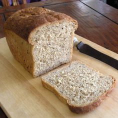 Barleycorn bread — wheat and barley flour, barley flakes, and linseeds Flours Banana Bread, Barley Flour, Flakes, Baked Goods, Breads, Gluten Free, Cook, Homemade, Baking