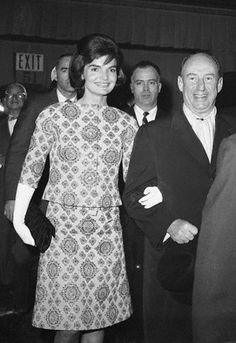 Jackie attending New York City Ballet with Adlai Stevenson