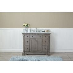Ordinaire Ari Kitchen U0026 Bath Stella 42 Inch Double Bathroom Vanity Set (Anitque  Grey), Size Single Vanities