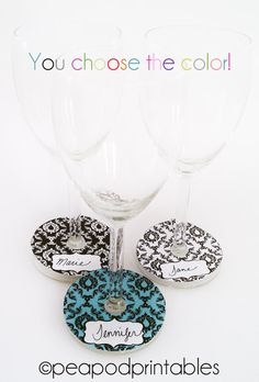 Amazing idea for wine tags! Cute as gifts too