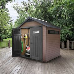 Looking for a high quality plastic shed? Find out who sells the best plastic shed. WhatShed reveal the UK's best plastic shed available to buy online today. Plastic Cladding, Corner Sheds, Apex Roof, Shed Base, Plastic Sheds, Shed Floor, Cheap Sheds, Wooden Sheds, Potting Sheds
