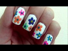 Colourful Flowers For Spring Nail Art Tutorial