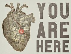 you are here #heart