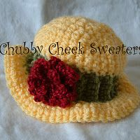 Several free crochet baby hats and sweaters patterns