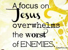 What is your focus on?