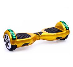 Vegas Gold SwegwaysPlus Swegway Hoverboard with Bluetooth 2 Wheel Hands Free Segway Self Balancing Board Smart Balance, Bluetooth, Red Led Lights, Bag Packaging, Outdoor Toys, Electric Scooter, Gold Style, Traveling By Yourself, Bags