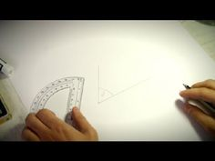 How to Use a Protractor to Draw Angles : How to Draw Numeracy Activities, Grade 6 Math, Protractor, Pop Up Cards, Being Used, Angles, Drawings, Friday, Tattoo