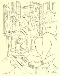 Henri Matisse / Artist and Model Reflected in a Mirror 1935