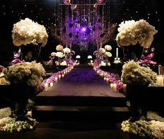 Your bride can have a beautiful dark aisle if it's filled with candles, dramatic lighting and gorgeous florals ~ Jeff Leatham Jeff Leatham, Wedding Design Inspiration, Dramatic Lighting, Corporate Events, Wedding Designs, Wedding Ideas, Spring Wedding, Luxury Wedding, Event Design