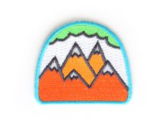 Neon Mountains Iron On Patch by MokuyobiThreads on Etsy https://www.etsy.com/listing/156256274/neon-mountains-iron-on-patch