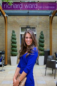 Our winning Kate Middleton lookalike just after she had her 'Chelsea Blowdry'
