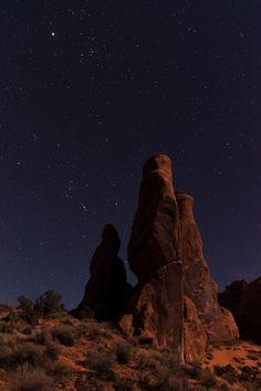 Desert night.