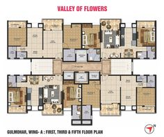 Flats in Nashik, Commercial Properties in Nashik at 'Valley of Flowers' is a residential and commercial complex designed by Hafeez Contractor offers. Healthcare Architecture, Residential Architecture, Commercial Building Plans, Row House Design, Valley Of Flowers, Architectural Floor Plans, Commercial Complex, Apartment Floor Plans, Residential Complex