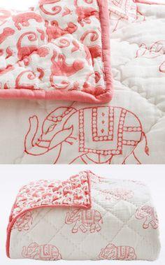 Rikshaw Design Toddler Quilt, Pink