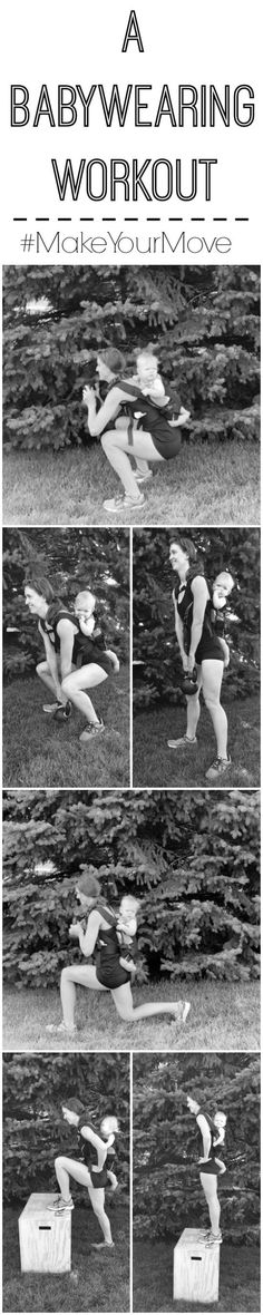 A babywearing workout that targets the lower body and can be done at home while wearing your baby. #ad #makeyourmove @kohls @fitfluential