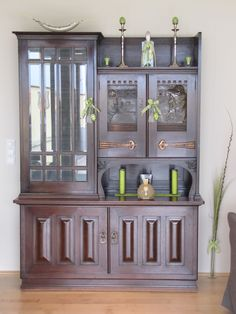 """Art Deco goes """"green"""" Go Green, China Cabinet, Art Deco, Easter, Storage, Furniture, Home Decor, Purse Storage, Decoration Home"""