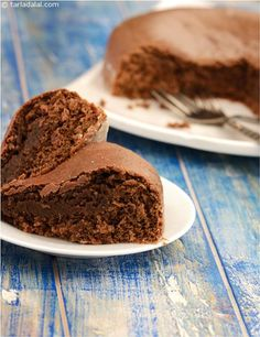 A Variation Of The Curd Based Eggless Chocolate Cake Recipe That Can Be Made Easily