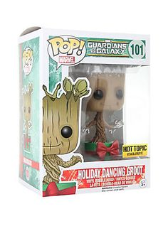 Funko Marvel Guardians Of The Galaxy Pop! Holiday Dancing Groot Vinyl Bobble-Head Hot Topic Exclusive,